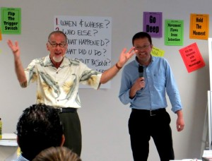 Doug Stevenson provides interactive storytelling for business training